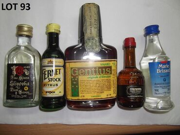 Reklamne flašice mini bottles unučići čokanji fraklići 4.Kao sa slika