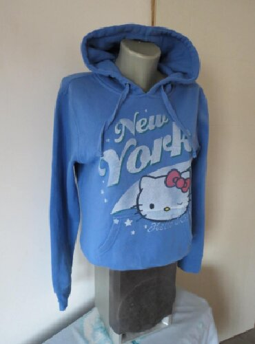 Duks haljina - Kraljevo: Hello Kitty duks sa kapuljacom S Veoma topao duks u plavoj boji bez