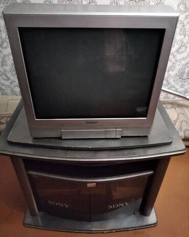 Продается телевизор с тумбой и ресивером 4500с