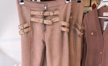 Pantalone-italijinemaju-elastin - Srbija: Divne unikat pantalone Novo Velur elastin Vel S-M