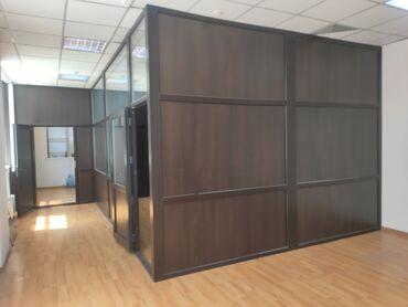 Окна, двери - Кыргызстан: Срочно продается готовая офисная перегородка (б/у в идеальном