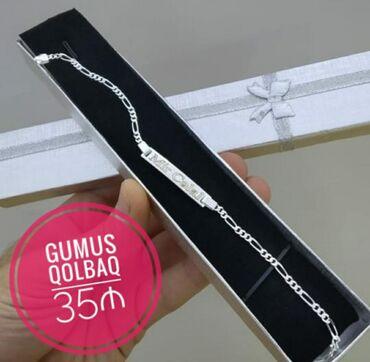 Zinət əşyaları Azərbaycanda: Gumus Qolbaq - 35 ₼ Lazerle istenilen ad yazilir 🆆🅷🅰🆃🆂🅰🅿🅿 -