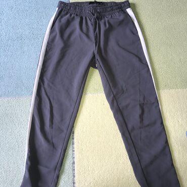 Pantalone tally weijl sa elastinom - Srbija: TALLY WEIJL Sive pantalone sa belom trakom-broj 36