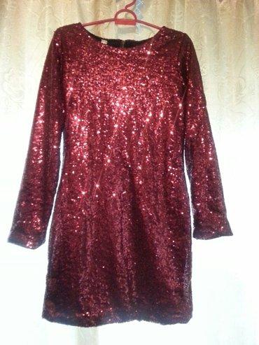 Красное короткое платье с блестящими в Бишкек