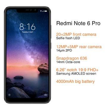 Bakı şəhərində Xiaomi Redmi Note 6 Pro 32GB / Yeni model 2018