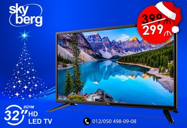 Bakı şəhərində Sky berg televizorlari yeni aksiyasinda cemi 299azn. Kredit