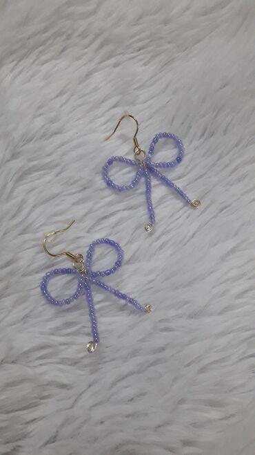 Personalni proizvodi - Srbija: Ručno rađene minđuše - mašnice, mogu se raditi u svim bojama i veličin