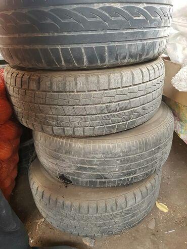 диски на камри 55 r17 в Кыргызстан: Продаю шины с дисками() на ТАЙОТА АВЕНСИС. 2 летние 2 зимние.Разбалтов