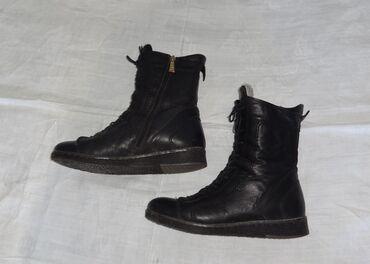 Зимние высокие ботинки из натуральной кожи с меховым утеплением,размер