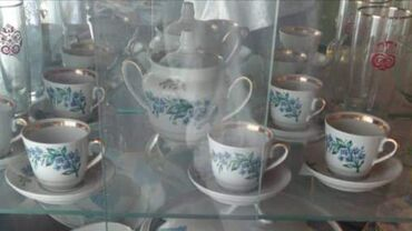 Фужеры - Кыргызстан: Сахарница,6 кофейных кружек, бокалы, фужеры,стаканы,мясорубки,одна раб