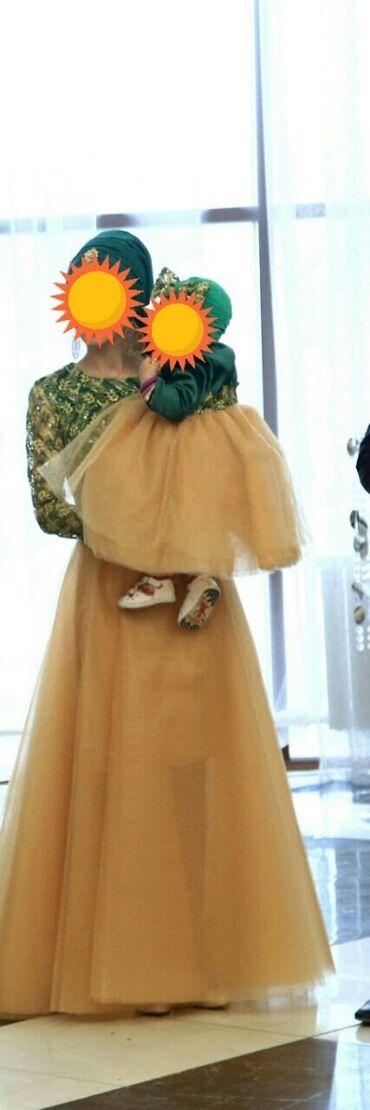 """Платье """"мама и дочь"""" Сшито специально на заказ.Одевали только один"""