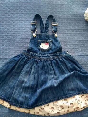 Детские платья в Кыргызстан: Фирменный джинсовый сарафан на 5-6 лет,но мы носили где-то с 3-6 лет