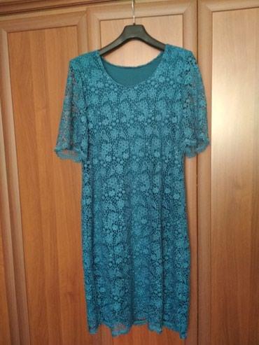 Бирюзовое платье 48-50го размера в Бишкек