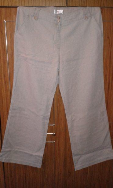 Штаны лен, женские, серые, не стрейч, размер 52-54. новые. в Бишкек