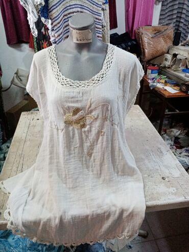 Košulje i bluze | Sokobanja: Etno tunika pamuk lan Cena 1300 novo