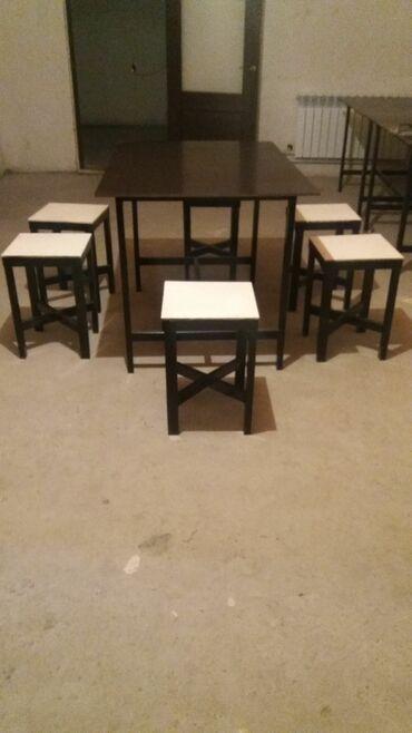 кухонный стол стулья в Кыргызстан: Продаю кухонный стол и 6 стульев качество высший