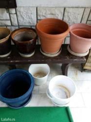 Saksije glinane,plasticne i keramicke vecih dimenzija -cena prema - Sombor