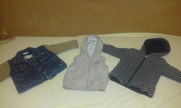 Dečije jakne i kaputi - Vrsac: 2 jaknice i prsluk vel 80