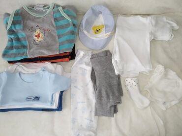 Za decu - Srbija: Paket za bebe- dečak 0-3 m Paket sadrži:  -bodi dugih rukava x2 -bodi