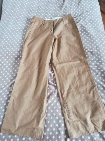 Pantalone zlatne - Srbija: Pantalone 36 vel, model uzak i dublji sa sirim nogavicama