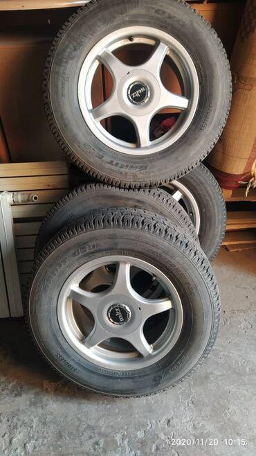 диски титановые в Кыргызстан: Продаю колеса зимние с титановыми дисками 15 р. Состояние отличное