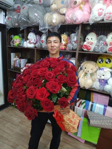 101 роза 899 сом .Акция в честь праздника День Матери в Бишкек