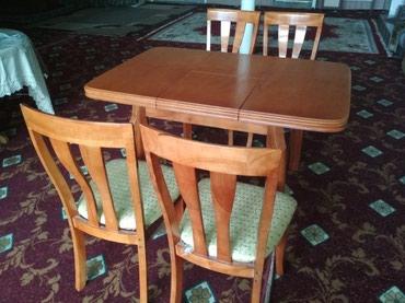 Трансформер комплект стол + 4 стула. почти новые в Миловое