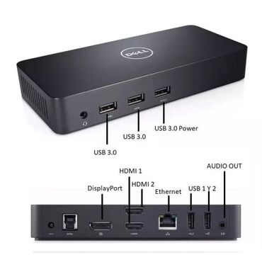 Dell 36M9K - Dell D3100 Docking Station USB 3.0 With 65W Adapter MGJN9