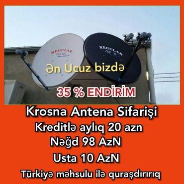Bakı şəhərində Peyk antena krosna krosnu kredit