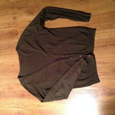 Muška odeća   Zajecar: Muski dzemper / kardigan, dugmici, boja izmedju braon i maslinasto