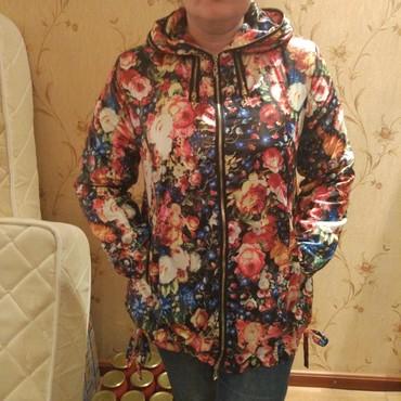 женскую куртку новую в Кыргызстан: Продаю женскую демисезонную куртку. Размер 50 - 52. Новая. Прошу 800