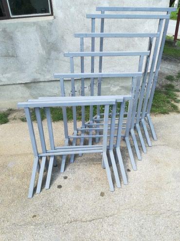 Kuća i bašta - Valjevo: Metalne nogare za zidanje i druge namene. Sirina 80cm max visina