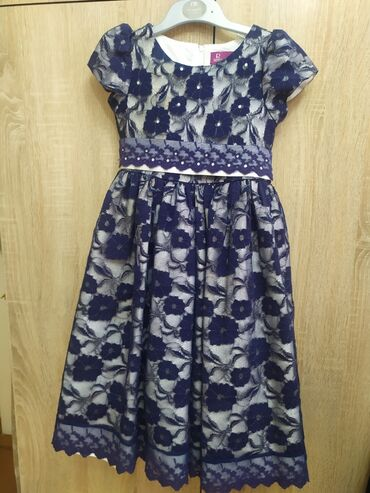 летнее платье трапеция в Кыргызстан: Нарядное платье на 6-7 лет