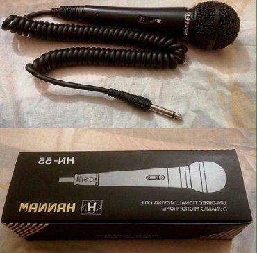 Mikrofon, kabelli.  Yenidir. Karaoke üçün əlverişlidir