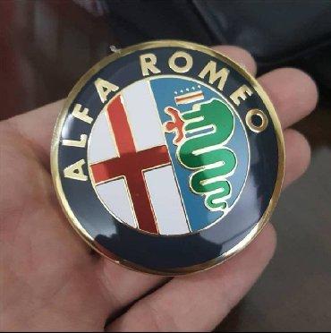 Znad kolena - Srbija: Povoljno 2 Znaka za Alfa Romeo zlatne boje, stiker se lako I brzo stav