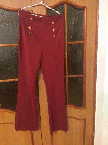 женские брюки чинос в Кыргызстан: Брюк,новый,цвет бардовый, клёш 450с