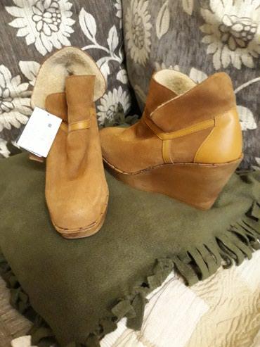 женскую ботинку на осень в Кыргызстан: Ботильоны рыжие осенние! 39 размер, новые, еще с этикеткой! производс