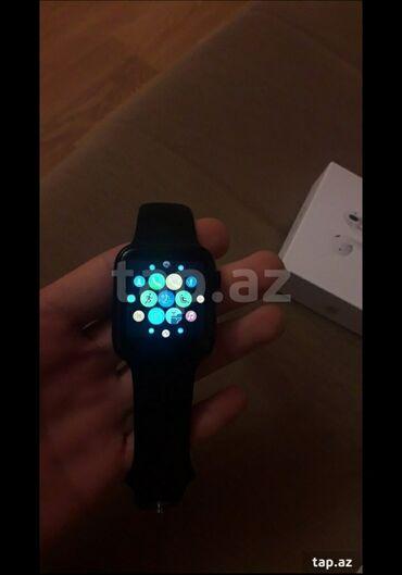 sekide satilan evler 2018 в Азербайджан: Черные Унисекс Наручные часы Apple