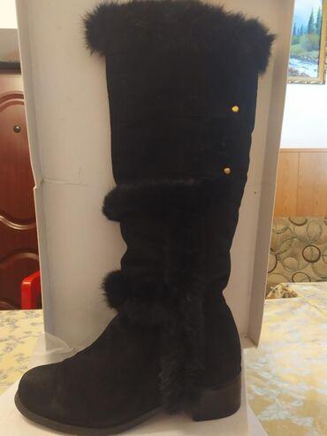 Сапожки для высоких 39 й размер производитель Италия (замша) очень