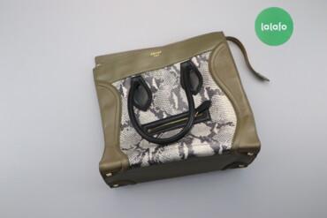 Аксессуары - Киев: Жіноча сумка зі зміїним принтом Celine   Довжина: 40 см Висота: 32 см