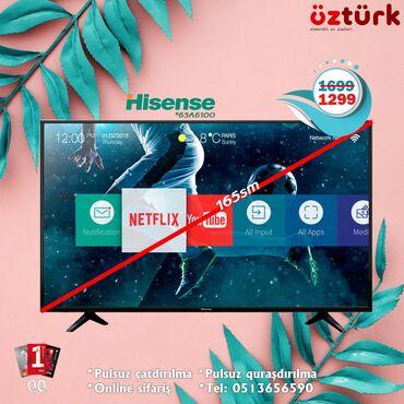 ТВ и видео в Азербайджан: Hisense tv 165 sm smart 4 K UHD