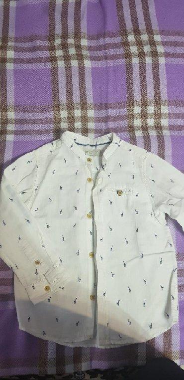 детская джинсовая рубашка в Азербайджан: Рубашка zara в отличном состоянии