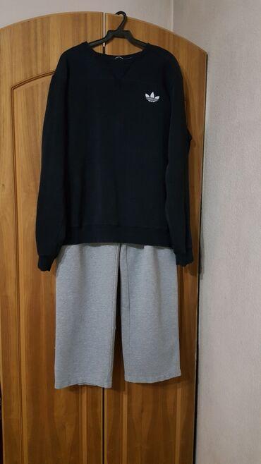 Домашние костюмы - Кыргызстан: Спорт костюм размер большой XL штаны кофта спортивный Adidas мужской
