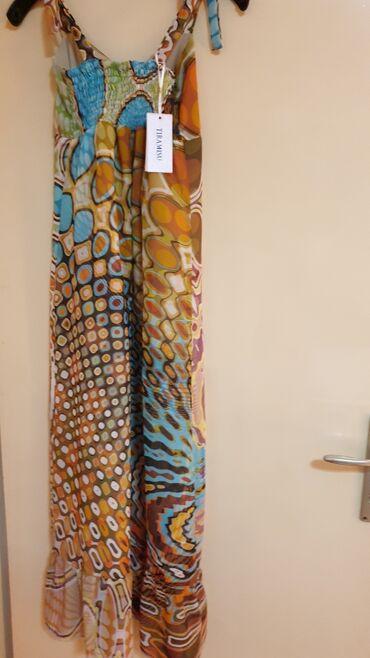 Duga leprsava haljina - Crvenka: LIU JO-DUGACKA HALJINA  VEL S-M MADE IN ITALY