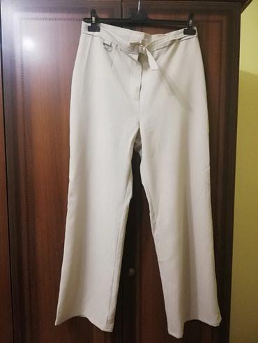 Papuce-broj-anatomske-krem-boja - Srbija: Zenske pantalone u krem boji, 2 puta nosene Veci broj