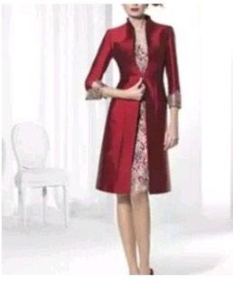 Mantil svecani - Srbija: Svecana cipkasta haljina sa mantilom, sivena po modelu sa slike