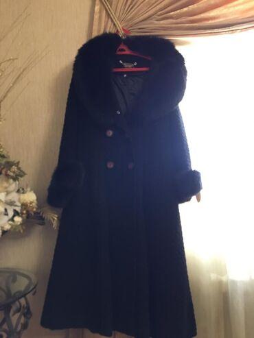 Натуральное пальто из Альпакиотдам за 3000сом,размер 50