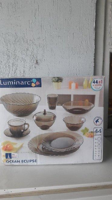 Дом и сад в Кыргызстан: Люминар посуда 44 предмета+1 в подарок . С доставкой до двери