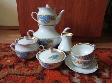 тарелка блюдце в Кыргызстан: Чайный сервиз на 12 персон: 2 чайника, сахарница, маслёнка, молочник