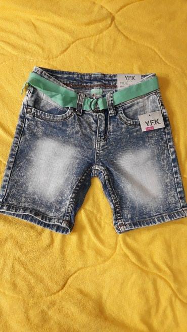 Ostala dečija odeća | Valjevo: NOVO! Teksas sorc za devojcicu, velicina 7 i 8 godina